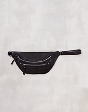 Pieces Svart Pcdaisy Leather Bum Bag