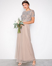 Maya Blush Short Sleeve Maxi Dress