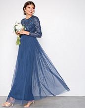 Maya Blue Delicate Sequin Maxi Dress