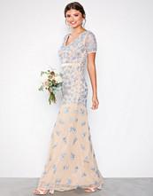 Maya Blue V-Neck Short Sleeve Maxi Dress
