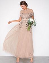 Maya Taupe Embellished Maxi Dress