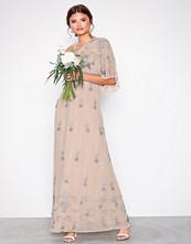 Maya Blush One Shoulder Embellished Maxi Dress