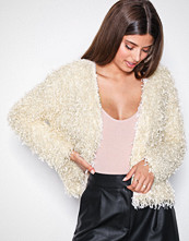NLY Trend Beige Feather Look Cardigan