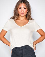 Vila Hvit Vinoel S/S V-Neck T-Shirt-Noos
