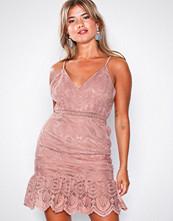 Love Triangle Blush Coco Rush Frill Hem Mini Dress