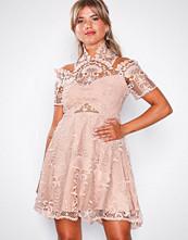 Love Triangle Almond Cream Bella Donna Mini Dress