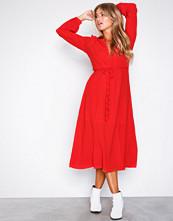 Glamorous Red Long Sleeve Midi Dress