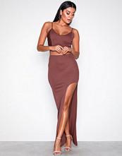NLY One Brun High Slit Skirt