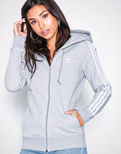 Adidas Originals Grå 3 Stripes Hoodie