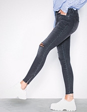 Noisy May Grå Nmkimmy Nr Ankle Zip Jeans AZ004MG