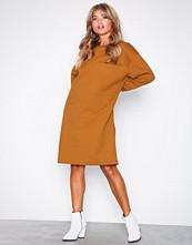 Selected Femme Brun Slfalexandra Ls Sweat Dress W