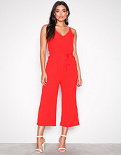 Ax Paris Red Strappy Jumpsuit