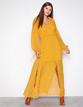 NLY Trend Gul/mønstret Long Flowy Dress