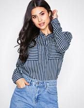 Jacqueline de Yong Mørk blå Jdyelaine L/S Stripe Shirt Wvn