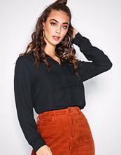 Selected Femme Svart Slfdynella Ls Shirt Noos