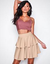 NLY One Beige Short Flirty Frill Skirt