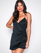 Motel Black Bartier Satin Dress