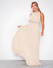 TFNC Light Beige Adora Maxi Dress