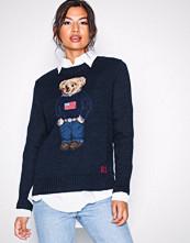 Polo Ralph Lauren Navy Bear Sweater-Long Sleeve-Sweater