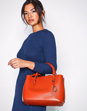 Lauren Ralph Lauren Orange Medium Satchel