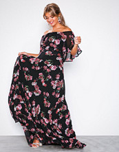 U Collection Red Floral Maxi Dress