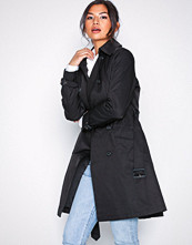 Lauren Ralph Lauren Black Cotton Trenchcoat