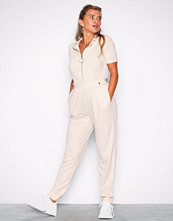 NLY Trend Creme Jersey Boilersuit