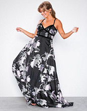 U Collection Stripe Floral Maxi Dress