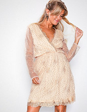 NLY Eve Champagne Exclusive Sprinkle Glitter Dress