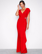 Lauren Ralph Lauren Red Natakara Evening Dress
