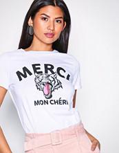 Vero Moda Hvit Vmwild Merci S/S T-Shirt Vip