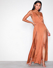 NLY One Rust Double Slit Maxi Dress
