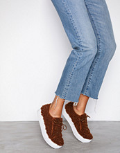 NLY Shoes Brun Furry Sneaker