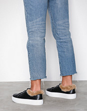 NLY Shoes Svart Fuzz Ankle Sneaker