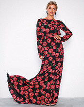 NLY Eve Blomstrete Scoop Back LS Gown