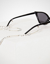 NLY Accessories Sølv Clear Crystal Sunglasses String