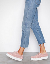 NLY Shoes Dusty Pink Furry Sneaker
