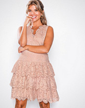 U Collection Dusty Pink Lace Short Dress