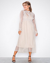 U Collection Long Sleeve Mesh Dress