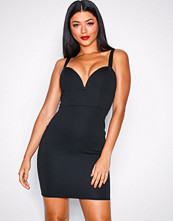 NLY One Svart Metal Plunge Bodycon
