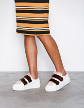 NLY Shoes Vit/Multi Mixed Faux Fur Sneaker