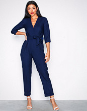 Closet Navy Crossover Jumpsuit