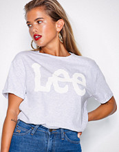 Lee Jeans Grey Melange Logo T-shirt Sharp