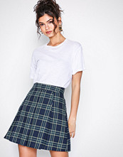 NLY Trend Ruter Check Pleated Skirt
