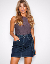NLY Trend Rinse Wash Detailed Denim Skirt