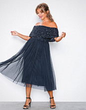 Maya Bardot Delicate Sequin Midi Dress