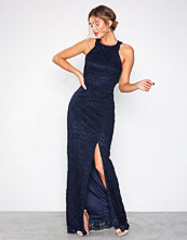 NLY Eve Navy Open Back Lace Gown