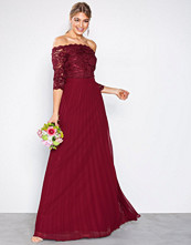 NLY Eve Burgundy Off Shoulder Lace Gown
