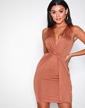 NLY One Rust Twist Front Dress