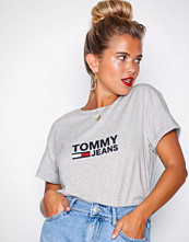 Tommy Jeans Light Grey Tjw Tommy Flag Tee